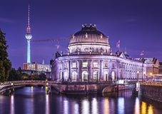 Museum Island in Berlin. Museum Island and TV Tower in Berlin, Germany stock photo
