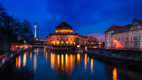 The Museum Island in Berlin. At twilight Stock Images