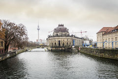 Museum island and river Spree, Berlin Stock Photos