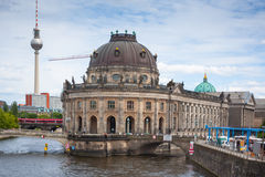 Museum Island on Spree river, Bode museum and Tv Tower view Stock Photo
