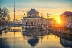 Museum Island on Spree river at sunrise, Berlin Royalty Free Stock Images