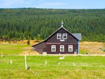 Museum of Jizera Mountains in an old rural wooden cottage, Jizerka village, Czech Republic Stock Photography