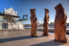 Museum Kampa on the Vltava river banks. Stock Photos