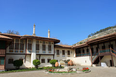 Museum of Khan's Palace in Bakhchisaray, Crimea. April 7, 2014. Khan's Palace - the former residence of the Crimean khans Stock Photography