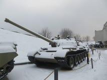 Museum in Kiev in winter. Tank exhibit Stock Photos