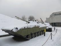 Museum in Kiev in winter. Tank exhibit Royalty Free Stock Images