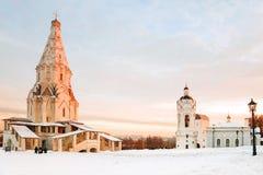 Museum Kolomenskoye i Moskva, Ryssland arkivbild
