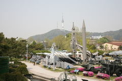 Museum of the Korean war in Seoul. Museum of the Korean war 1950 - 1953 in Seoul . 2017. Samgakji metro station stock photography
