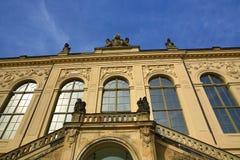 Museum kyrka av vår dam Frauenkirche, gammal byggnad i mitt av staden Dresden, Tyskland Arkivbild