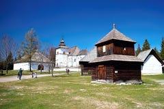 Museum of Liptov Village - Open-air museum in Pribylina in Liptov. The best tourist attraction in Liptov royalty free stock photo