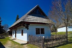 Museum of Liptov village in Pribylina, the youngest museum in nature in Slovakia. Museum of Liptov Village in Pribylina - all buildings together create a unique stock images