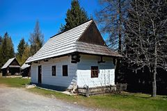 Museum of Liptov village in Pribylina, the youngest museum in nature in Slovakia. Museum of Liptov Village in Pribylina - all buildings together create a unique royalty free stock image
