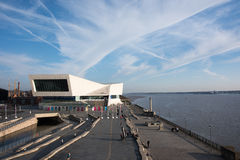 Museum of Liverpool, Pier head, Liverpool, England. Striking modern purposebuilt building opened in 2011, with interactive displays on city's heritage Royalty Free Stock Images