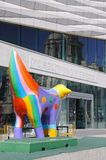 Museum of Liverpool and Superlambanana. Royalty Free Stock Photo