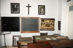 Museum of local history, classroom Royalty Free Stock Images