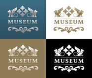 Museum Logo Design. Vintage emblem or a logo on any historical architectural theme Stock Photos