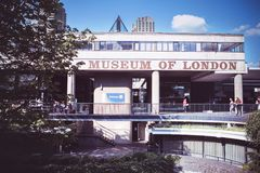 The Museum of London documents the history from prehistoric to royalty free stock images