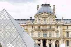 Museum of the Louvre in Paris, France Royalty Free Stock Images