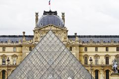 Museum of the Louvre in Paris, France Royalty Free Stock Photography