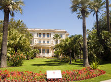 Museum Massena French Riviera Nice France. Musee Museum Massena with flower garden The French Riviera Nice France stock images