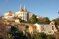 Museum & medborgareslott av Sintra. Portugal Arkivbilder
