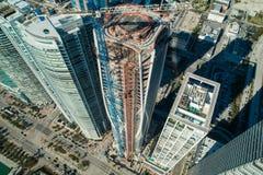 Museum 1000 Miami kurz vor dem Abschluss Brummenbild mit 2018 Antennen Stockfoto