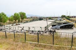 Museum of military equipment in Novorossiysk. Stock Photos
