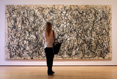 Museum of Modern Art  in New York City Royalty Free Stock Image