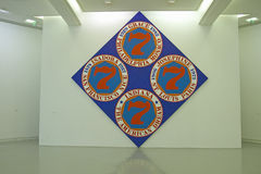 The Museum of Modern and Contemporary Art of Nice, Painting by Robert Indiana, Nice, France Stock Images