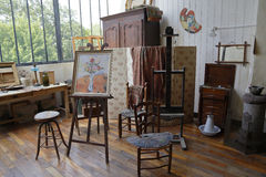 Museum of Montmartre, artists studio for Suzanne Valadon and meeting place for many artists including Auguste Renoir, Suzanne Vala Royalty Free Stock Images