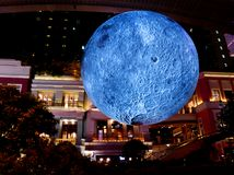 Museum of the Moon Artwork exhibited in Lee Tung Avenue Hong Kong stock images