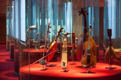 Museum of Music de Barcelona. Bowed instruments Stock Images
