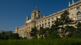 Museum of Natural History in Vienna. Arriving to the Vienna, Austria we got out at the Maria Theresa monument and there were two extremely nice buildings stock photo