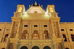 Museum of Natural History in the evening - landmark attraction in Vienna, Austria Stock Photo