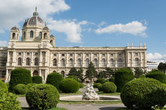 Museum of Natural History in Vienna. Facade of the Museum of Natural Histori at the Maria Theresien Square in Vienna, Austria royalty free stock image