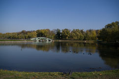 Museum nature reserve Tsaritsyno, Pond Royalty Free Stock Image
