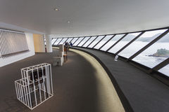 MUSEUM NITEROI-ZEITGENÖSSISCHER KUNST, RIO DE JANEIRO, BRASILIEN - NOVEMB Lizenzfreies Stockfoto