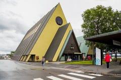 Museum od Ship Fram in Oslo. OSLO, NORWAY - JULY 1, 2016: This is entrance Museum of Ship Fram on the museum peninsula Byugdoy stock photo
