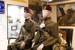 Free Museum Of The History Of The Military Of The Hungarian Army With Historical Exhibits And Compositions On The Theme Of War. Royalty Free Stock Photos - 107117628