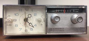 Grey dial vintage radio Stock Photography