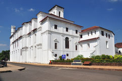 Museum in Old Goa, India. Old Goa has several important buildings with imposing architecture. Goa was once ruled by the Portugese and Old Goa has several Stock Image
