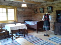 Museum. Old house, home, room, dress, livingroom Stock Photography