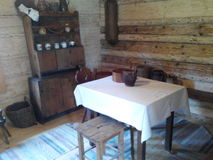 Museum. Old house, home, room, kitchen Royalty Free Stock Image