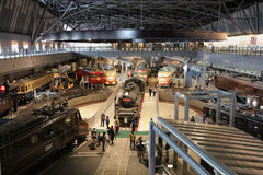 The museum of old train in railway museum of Railway Park Royalty Free Stock Images