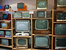 Museum of old tv Royalty Free Stock Photo