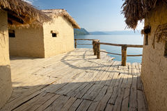 Museum On The Water - Ohrid. Balkans Royalty Free Stock Photo