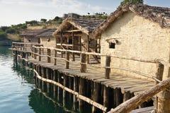 Museum op het water - Ohrid. stock foto's