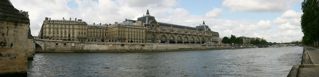 Museum Orsay. At Seine River Stock Image