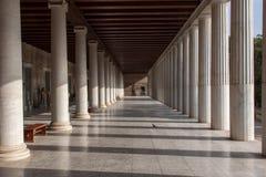 Museum på den forntida marknadsplatsen Athens Grekland Arkivbilder