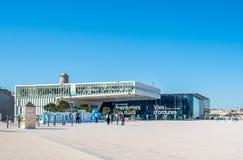 Museum på Marseille port Arkivfoto